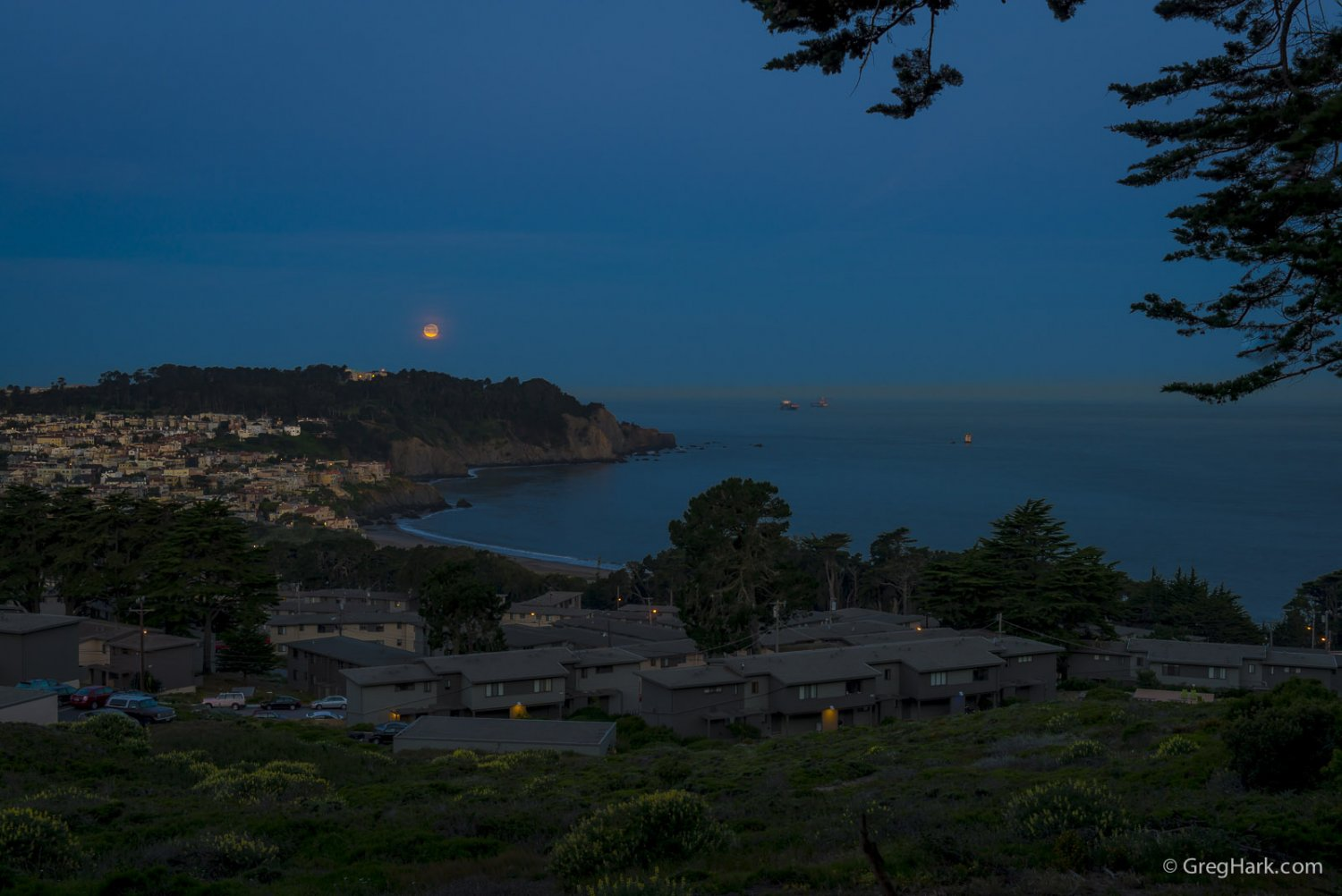 Presidio San Franscisco Moon and Land's End San Franscisco Moon Over The Presidio San Francisco, CA
